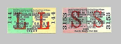Isle of Man Railway L and S Special Excursion Tickets