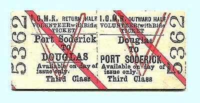 Isle of Man Rly – 1900s Volunteer with Rifle Ticket