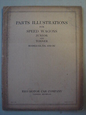 REO Speed Wagons original Parts illustrations book  June 1930.
