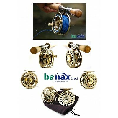 BANAX CREST LARGE ARBOR FLY REEL 7/8 or 5/6