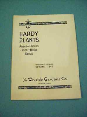 HARDY PLANTS WAYSIDE GARDENS WHOLESALE CATALOG SPRING 1941 now on sale