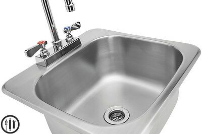 "Stainless Steel Drop In Hand Sink 16"" x15"", Lead Free Certified"
