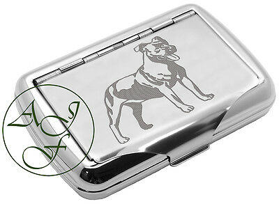 Tobacco Tin Staffordshire Bull Terrier Engraved FREE