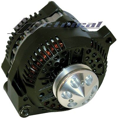 ALTERNATOR For FORD MUSTANG,BLACK W/BILLET PULLEY 1 ONE WIRE HIGH OUTPUT 250 AMP