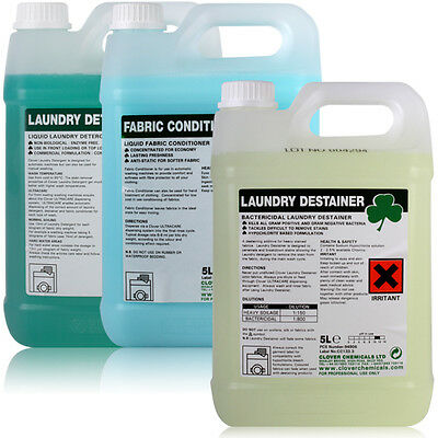 5L Liquid Laundry Detergent Stain Remover Fabric Softener Nursing Homes Hospital