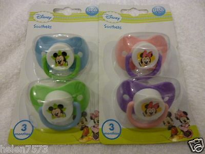 2pk Disney Mickey & Minnie Mouse soothers/dummies BPA free