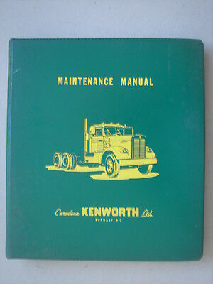 CANADIAN-KENWORTH  Maintenance Manuel from the early sixties.
