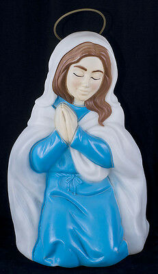 "Vintage Empire 26"" MARY Blow Mold Nativity Yard Decor Large Display"