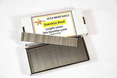 18 Gauge 20Mm Stainless Steel Brad Nails - Box 5000