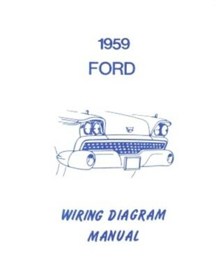 FORD 1959 Galaxie, Fairlane & Custom Wiring Diagram Manual