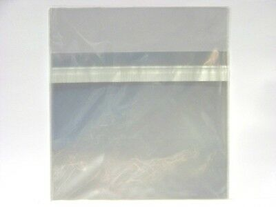 10 x New CD Jewel Case Wrappers ~ Resealable Clear Plastic Storage Sleeves, Bags
