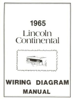 LINCOLN 1965 Continental Wiring Diagram Manual 65