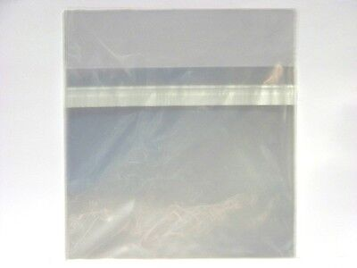 50 x New CD Jewel Case Wrappers ~ Resealable Clear Plastic Storage Sleeves, Bags