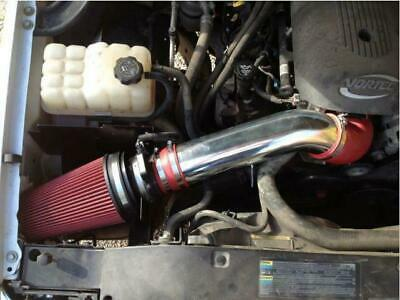 """4"""" RED GMC/Chevy V8 4.8L/5.3L/6.0L Heat Shield Cold Air Intake System + Filter"""