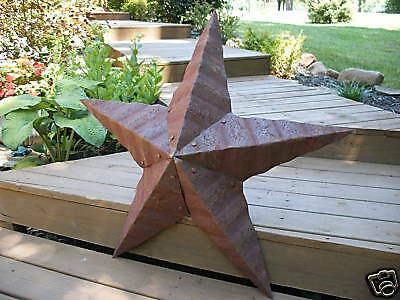 12''Rusted*Metal*Star*Barn*Old*Roof*Rusty*Sign*Texas*Handmade By Seller Signed
