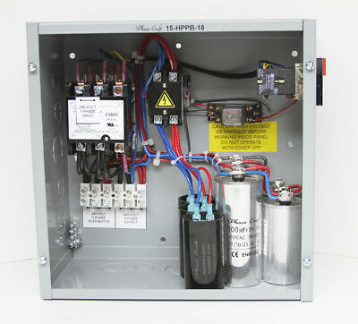 15 HP manual start (pushbutton) ROTARY PHASE CONVERTER CONTROL PANEL