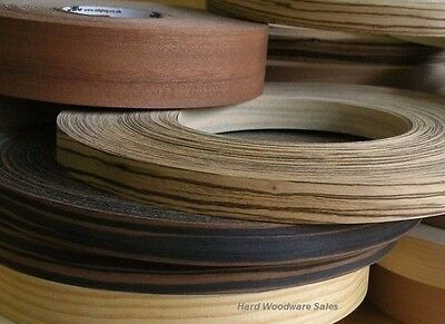 Iron-on Edging Pre Glued Real Wood Veneer Edge Banding Tape 22mm 30mm 50mm