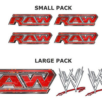 WWE RAW LOGO bedroom wrestling wall STICKER PACK, SMALL or LARGE stickers decals