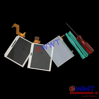 Replacement Full Top + Bottom LCD Display w/ Touch Screen+Tools for NDSL ZVZLS08