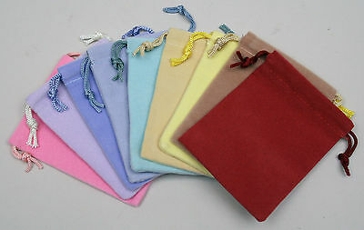3X4 Drawstring Pouches Bulk Wholesale Lot of 48 - Assorted Colors