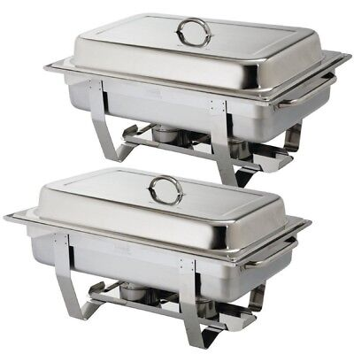 Best Ebay Price Pack Of 2 Chafing Dish Sets ***free Next Day Delivery***