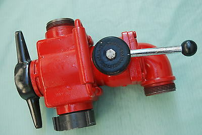 """AKRON Hydrant Relief Valve 2 ½"""" NH. Multiple Outlet W/Shut off control"""
