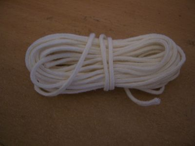 "Candle Wick - Braided Cotton - 10 mtr - for 1.3/4"" to 2"" (43mm-50mm) (MBC-2)"