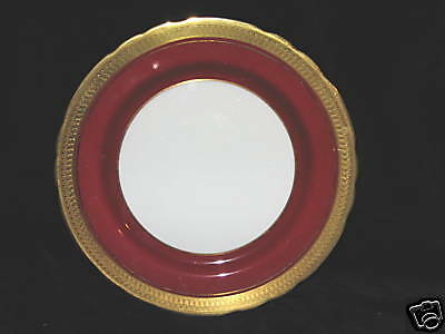 AYNSLEY - KINGSMERE 3830 - RED - SALAD PLATE - 1B