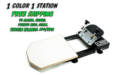 Silk Screen Printing Press 1 color/1station - FREE S/H TO AK, HI, PR, GU, VI, AP