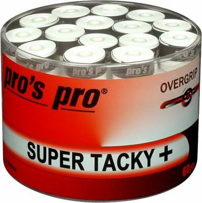 Pros Pro Overgrips Super Tacky + Tub of 60 Overgrips White