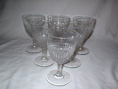 Six c1880s Plain Paling Water Goblets Perfect