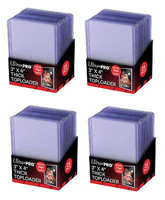 (100) Ultra Pro Thick 55pt Toploaders Action Packed Topload Card Holders 3x4