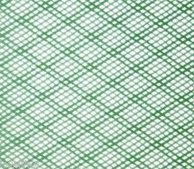 FINE STRONG GREEN FLEXIBLE HDPE 2mm INSECT FISH MESH SCREEN 0.6x0.6m PLASTIC NET