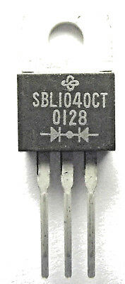 SBL1040CT Diode Schottky 40V 10A 3-Pin TO-220AB