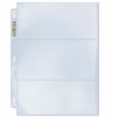 (10) Ultra Pro 3.5 x 7.5 Proof Set 3-Pocket Album Pages Bills, Notes, Currency