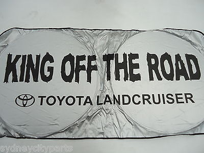 Toyota Landcruiser Windscreen Sunshade Interior Sun Cover King Off The Road