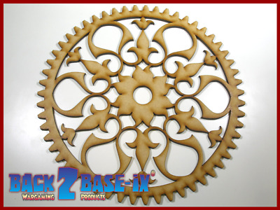 Steampunk Cogs Gears Wheel Laser Cut MDF Decorative Accessory 200mm x 3mm COG6