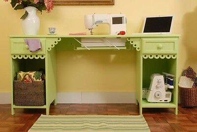Arrow Olivia Sewing Machine Cabinet Table Pistachio Green