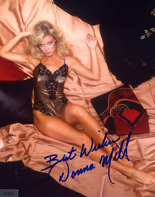 Sexy DONNA MILLS In-Person Signed 8X10 Photo with a SuperStars Gallery (SSG) COA