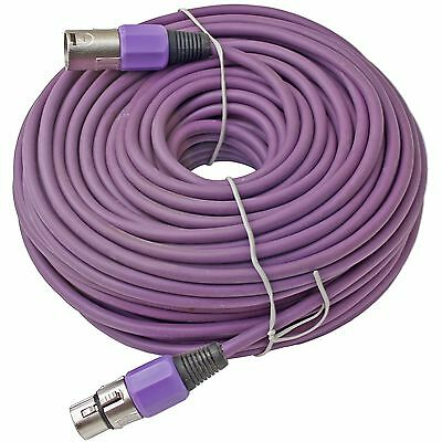 100 ft foot XLR 3pin Male to Female PURPLE mic microphone extension cable cord