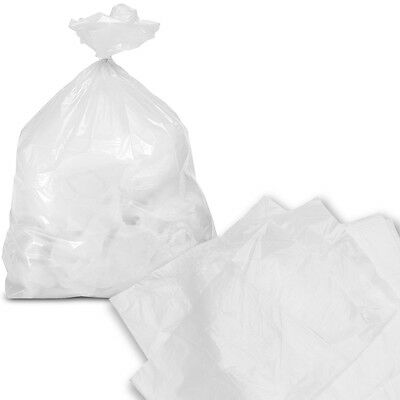 1000 Clear Lightweight Square Pedal Bin Refuse Liners Sacks General Rubbish Bag