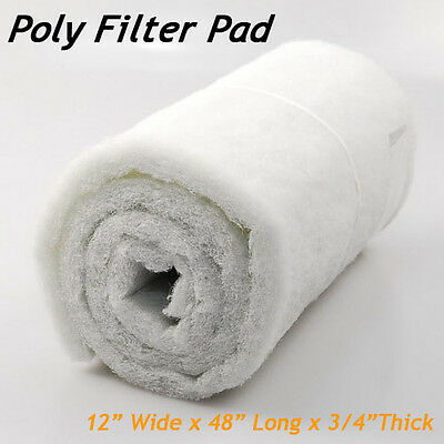 "3/4"" Thick Universal Pond Filter Mat/Media/Pad 12"" x  48"" Water Garden Fountain"