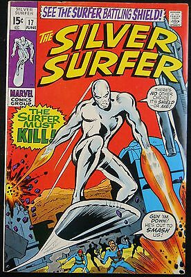 Silver Surfer #17 Vf- Nick Fury App
