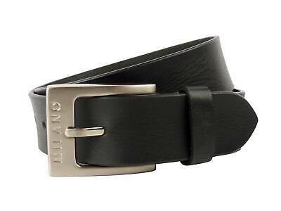 """New Quality MENS Black REAL LEATHER BELT 1.5"""" Wide All Sizes by MILANO 28 to 48"""