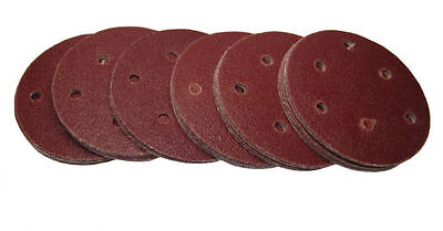 "Rdgtools 5"" Hook And Loop Sanding Discs ( 50 Per Pack ) P320 Grit 125Mm"