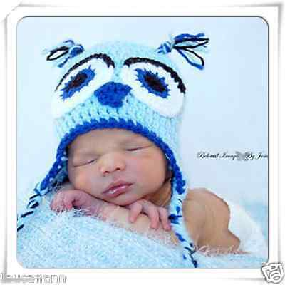 Crochet Baby Owl Earflap Hat - Photo Prop - Custom Sizes And Colors