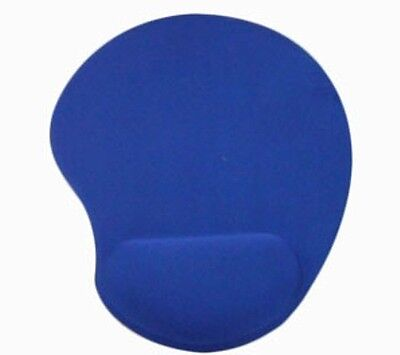 Blue Anti-Slip Mouse Mat Pad With Wrist Support Pc & Laptop ~Uk Seller~