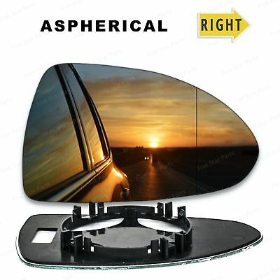 Right Driver side Wide Angle Wing mirror glass for Vauxhall Corsa D 06-14