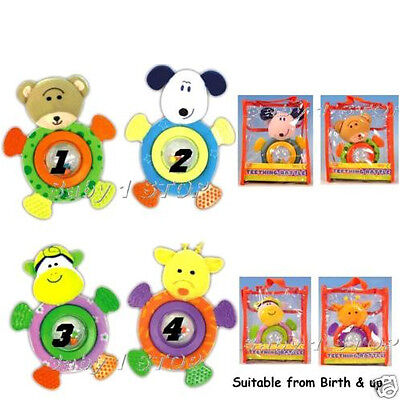 Baby Teether Rattle For Little Hands in Gift Bag New