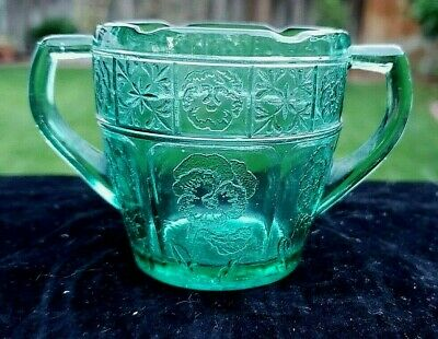 Teal - UltraMarine Doric and Pansy Child Sugar Bowl